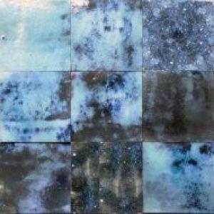 Kleitegeltjes in formaat 10x10cm in kleur magic blue -