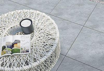 Keramischeoutlet tegels: terrastegel K61 light grey