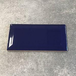 Kobalt blauwe metrotegel formaat 7,5x15cm