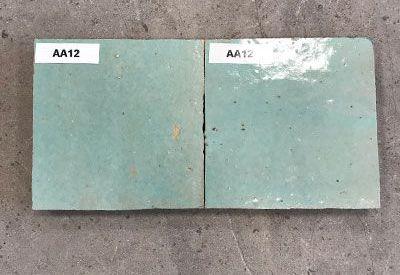 Solden in zelliges AA12 licht turquoise bij Top Tegel 04 in West Vlaanderen