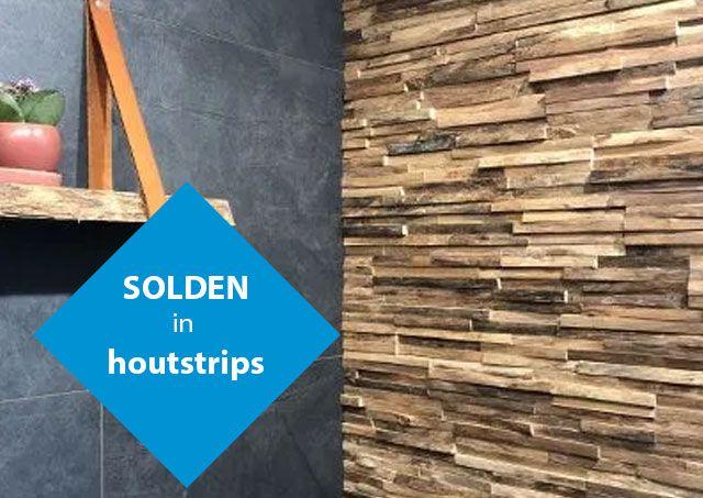 Solden in houtstrips van LAlegno bij Top Tegel 04 uit ieper, West Vlaanderen.
