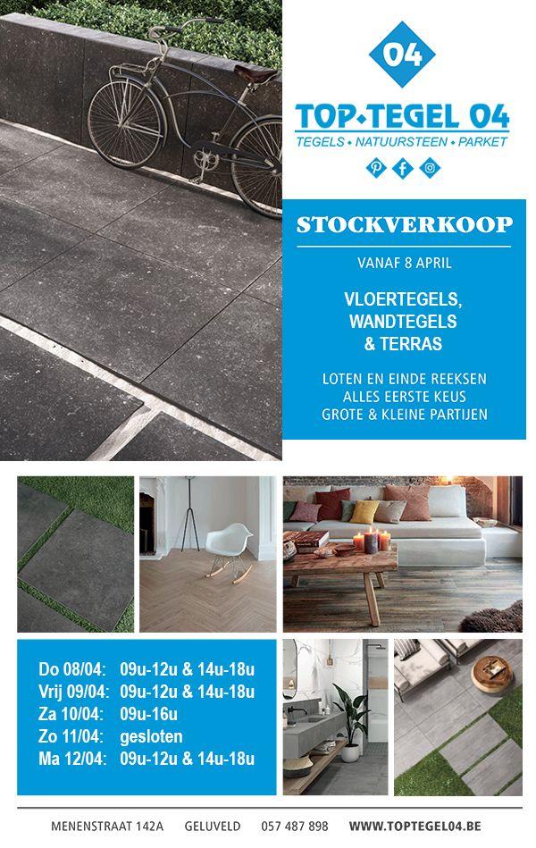 stockverkoop in tegels en terrastegels bij Top Tegel 04 vanaf 8 april 2021