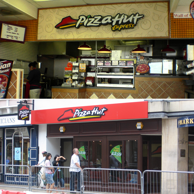 fast food pizza chains in the world