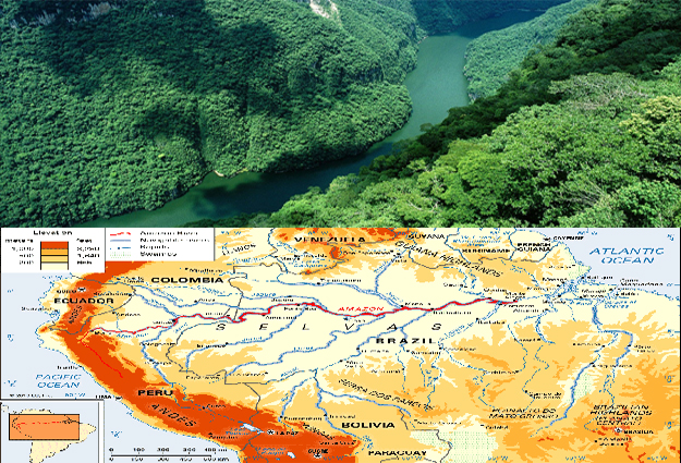 Amazon River map