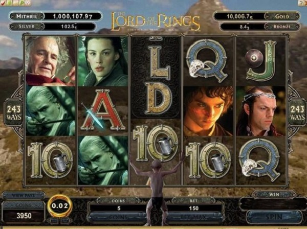 Lord Of The Rings Video Slots