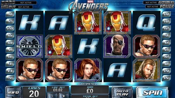 Marvel's Avengers Video Slots