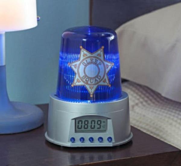Police Siren and Light Alarm Clock