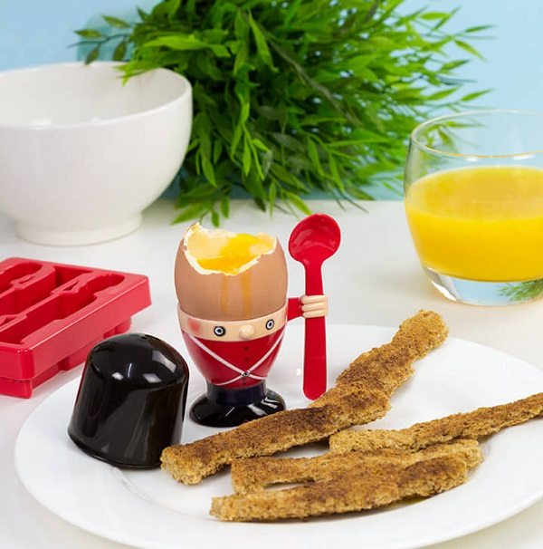 Soldier Egg Cup and Toast Cutter Set