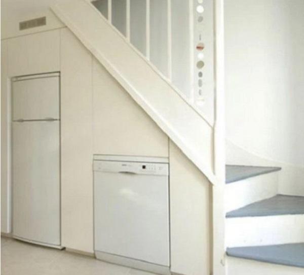 White Goods Under Staircase