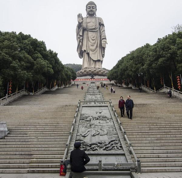 The Grand Buddha at Ling Shan, China - Height: 79m (259ft)