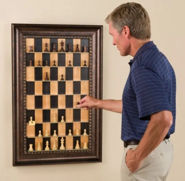 Vertical Chess Boards and Sets
