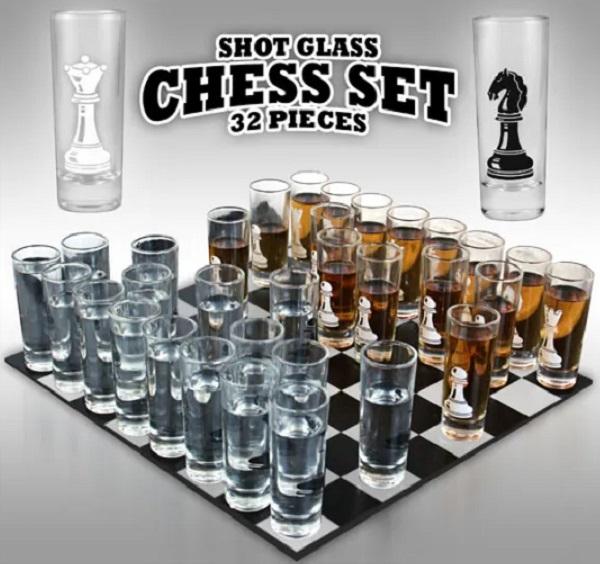 Thumbs Up Shot Glass Chess