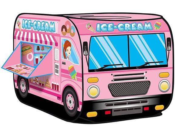 Ice Cream Truck Pop Up Kids Play Tent