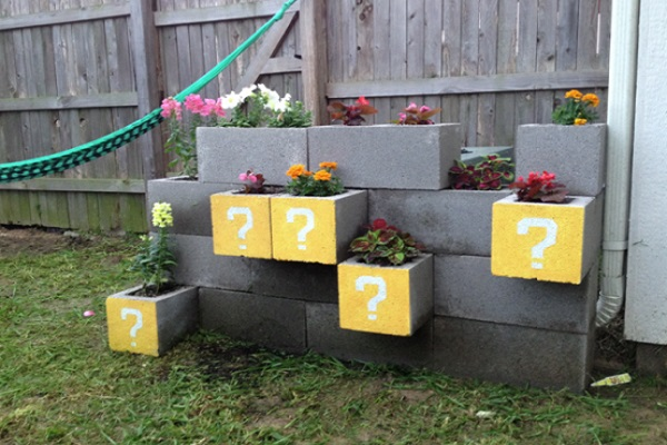 Make Your Own Cinder Block Planters
