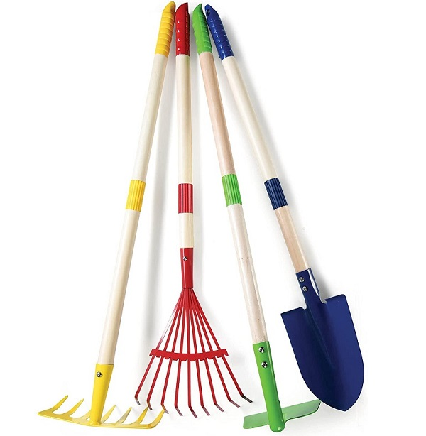 Play22 4-Piece Toy Gardening Tools for Kids