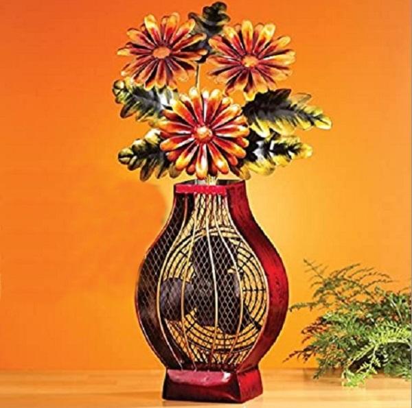 DecoBREEZE Floral Bouquet Decorative Table Fan