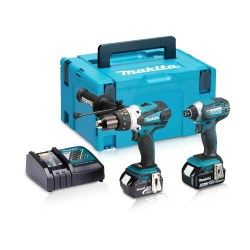 Toptopdeal-Makita DLX2145TJ 18V LXT Twin Pack With 2 X 5 0Ah Batteries & Charger In Case