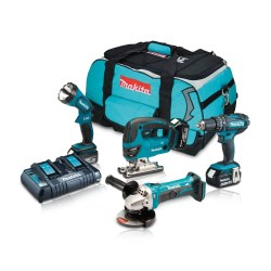 Toptopdeal-co-uk Makita DLX4051PM1 18V Cordless Li-Ion 4 Piece Kit 3 X 4 0Ah Batteries