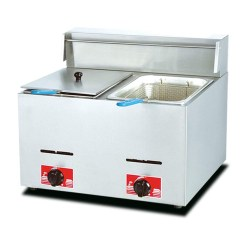 Fryers Commercial Deep Fat Fryer,Gas Single-cylinder Fried Potato Pan With Temperature Control