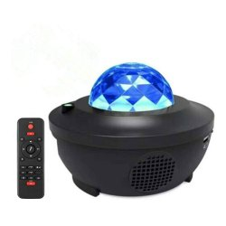 Toptopdeal-Delicacy-LED-Star-Light-Projector,-Rotating-Ocean-Wave-Night-Lights