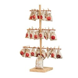 Toptopdeal-Unique-Christmas-Tree-Advent-Calendar-With-Metallic-Hanging-Sacks