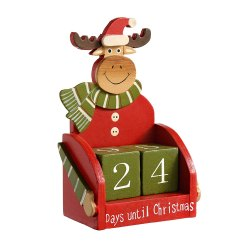 Toptopdeal-WeRChristmas-Wooden-Reindeer-Advent-Calendar-Christmas-Decoration