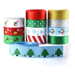 Toptopdeal-kuuqa-12-Pieces-Printed-Ribbons-for-Christmas-Decoration