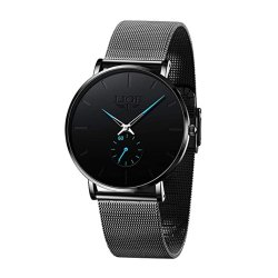 Toptopdeal-LIGE-Men's-Black-Ultra-Thin-Watches-Minimalist-Fashion-Gent-Business-Dress-Wrist-Watches-Analog-Quartz-Waterproof-Watch