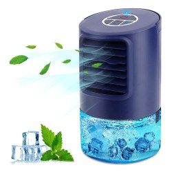 toptopdeal RenFox Air Conditioner Fan, Mini Air Cooler, Portable Personal 4 in 1 Air Circulator, Humidifier, 3 Speed Misting Fan, 7 LED Night Light and Timer, for Home & Office & Outdoor