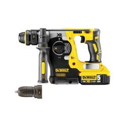 toptopdeal-Dewalt DCH274P2-GB DCH274P2 18V XR li-ion SDS+ Rotary Hammer Drill with Quick Change Chuck (2 x 5AH Batteries) 18 V Yellow Black