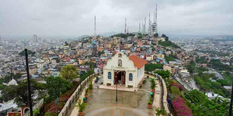 View from Santa Ana, Guayaquil, Ecuador