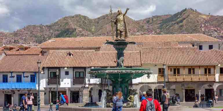 Main plaza in Cusco, Peru
