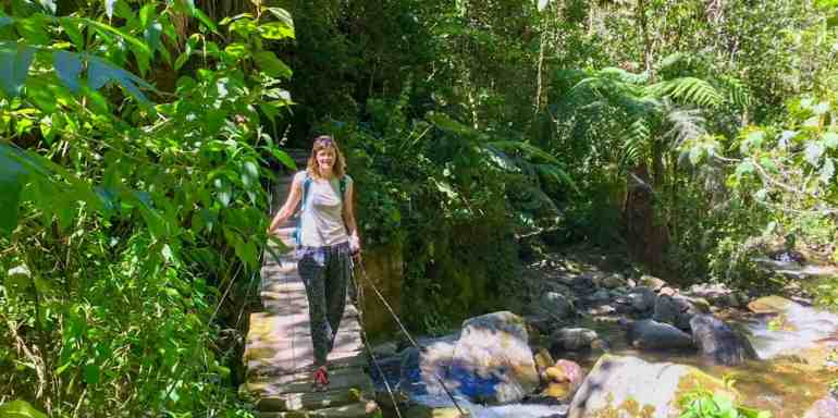 Me on a bridge in the Cocora Valley, Colombia
