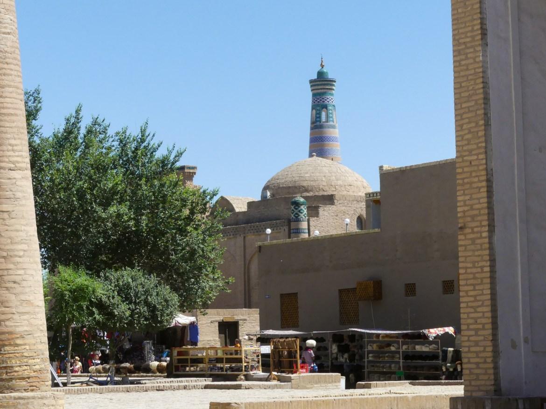 Street and market in Khiva, Uzbekistan