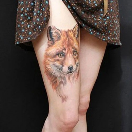 Front Thigh Tattoo Ideas