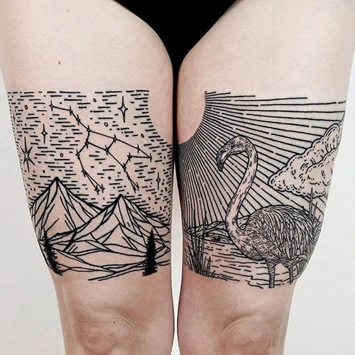 Inner Thigh Tattoo Ideas For Women
