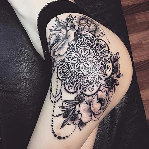 Unique Thigh Tattoos For Women
