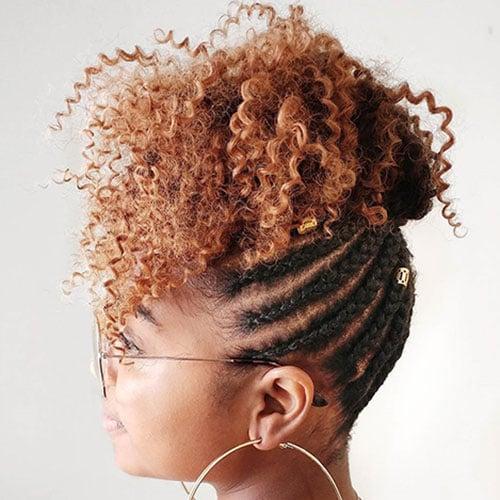 Cornrow Braids with Natural Hair