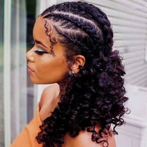 Cornrows with Weave