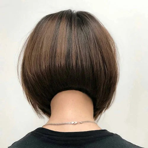 Inverted Bob with Shaved Nape