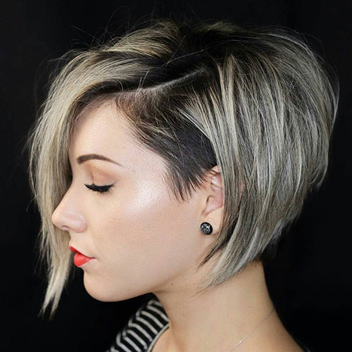 Short Inverted Bob with Bangs and Layers