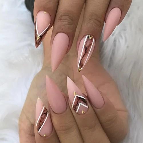 Cute Matte Stiletto Nails