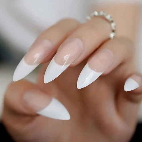 French Tip Stiletto Nails
