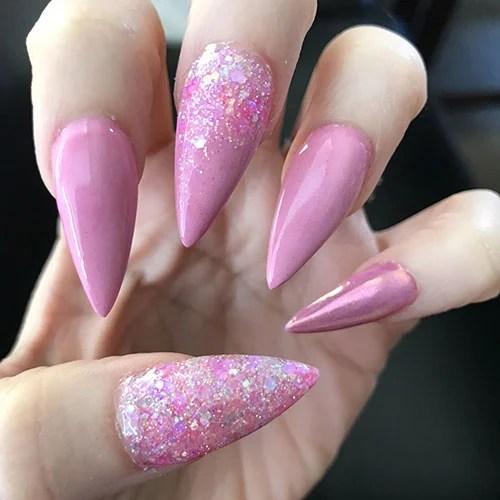 Pink Tip Nails