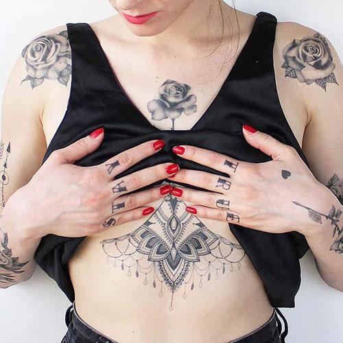 Chest Stomach Tattoo