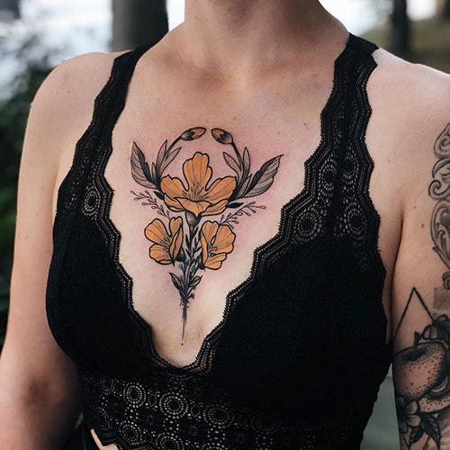 Creative Chest Tattoo