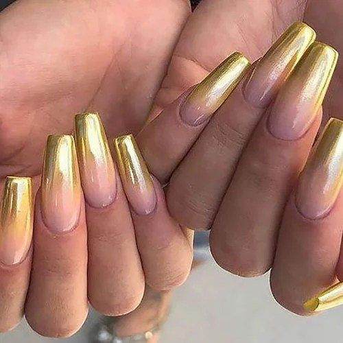 Gold Ombre Nails