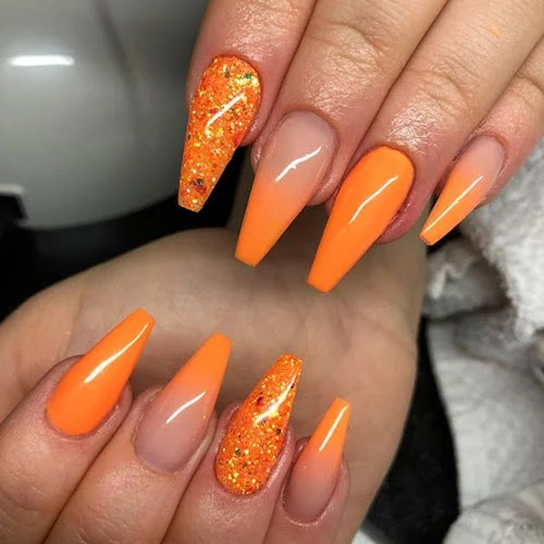 Ombre Orange Nails