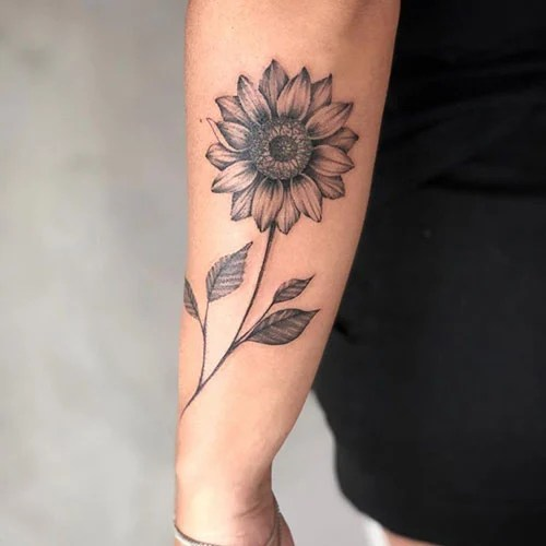 Sunflower Side Arm Tattoo