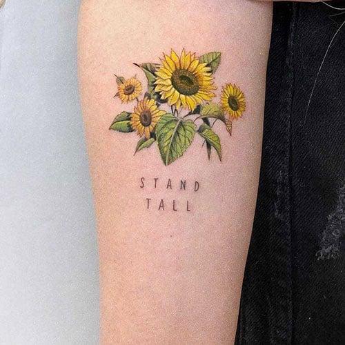 Sunflower Tattoo Designs